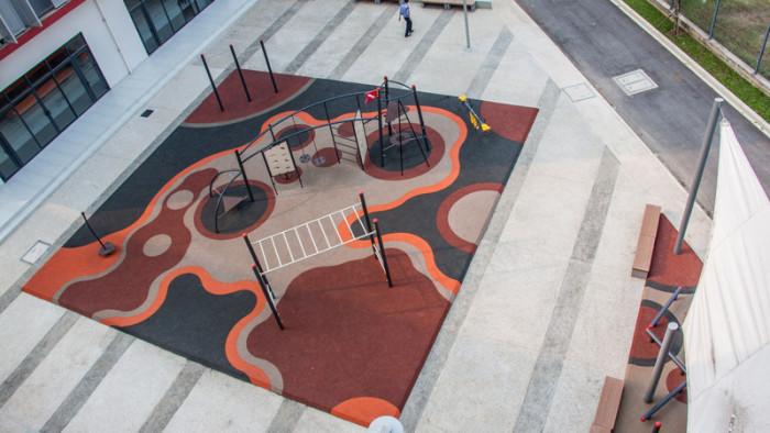 Ariel view of playground